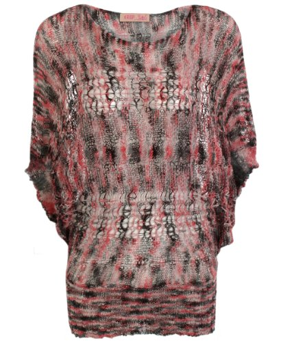 KRISP Womens Oversized crochet ruched jumper