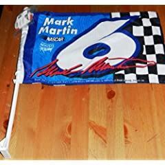 Mark Martin Wall Window Mounted Car Flag by Rico