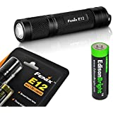 Fenix E12 CREE XP-E2 130 Lumen LED flashlight with EdisonBright AA alkaline battery. E11 upgrade.