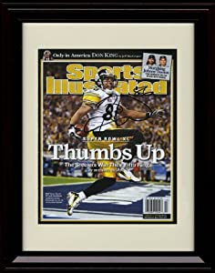 Framed Hines Ward Sports Illustrated Autograph Print - Thumbs Up! - Pittsburgh... by Framed Sport Prints