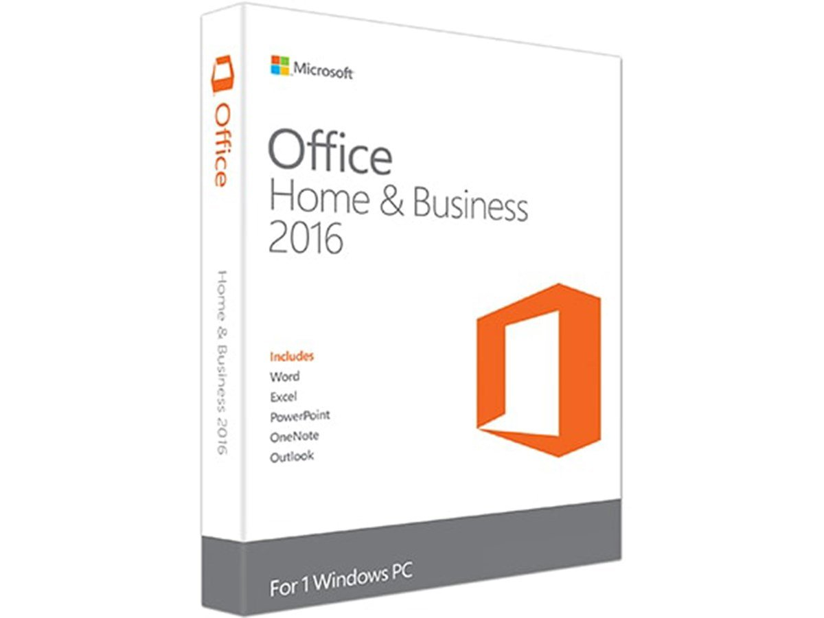 Microsoft Office Home and Business 2016 Product Key Card - 1 PC