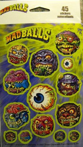 Madballs 45 Stickers 3 Sheets 15 per Sheet