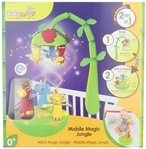 Babymoov- A104408 - Móvil con diseño de jungla 2 en 1 de Babymoov