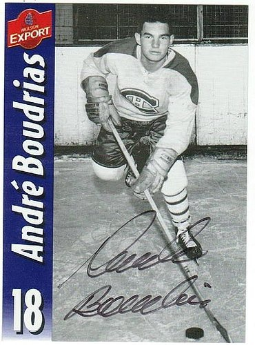 andre-boudrias-montreal-canadians-signed-molson-export-card-autographed-nhl-cards