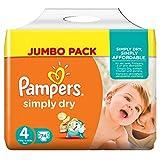 Pampers Simply Dry Windeln, Gr��e 4 (Maxi) 7-18 kg, Jumbo Pack, 2er Pack (2 x 74 St�ck) Bild