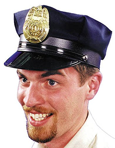 Police Hat Navy 1 Sz Halloween Costume - One Size Fits Most