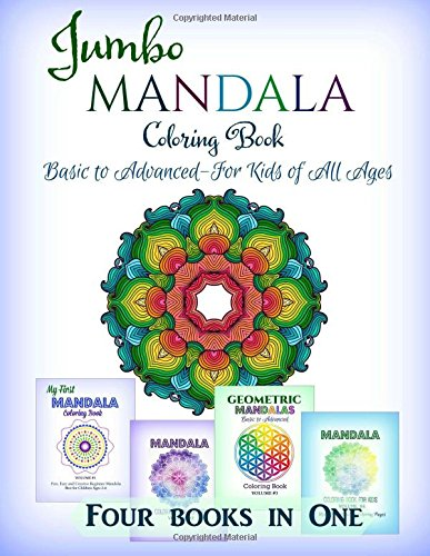 Jumbo Mandala Coloring Book: Basic to Advanced-For Kids of All Ages: Volume 5 (Kids Manala Coloring Book Series)