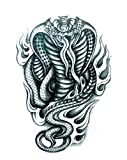 Waterproof And Non Toxic Halloween Tattoo Terrible Cobra Fake Temp Tattoo Sticker