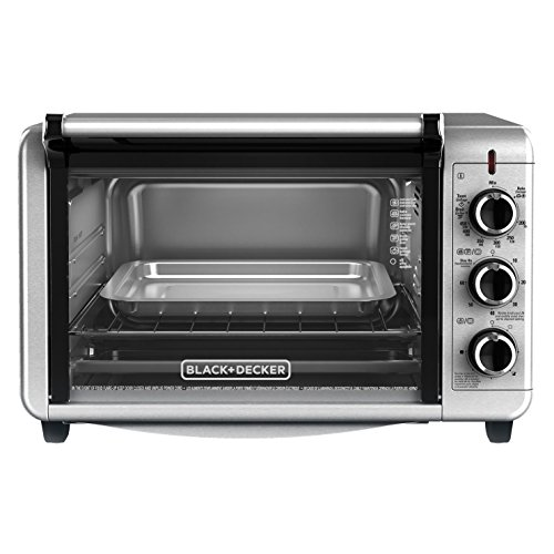 BLACK+DECKER TO3210SSD Countertop Convection Toaster Oven, Silver (Toaster Ovens Small Space compare prices)