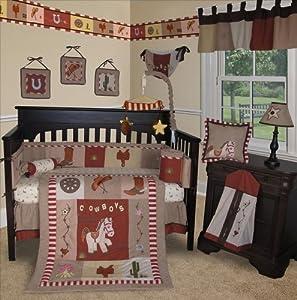 SISI Baby Bedding -Western Cow Boy 15 PCS Crib Bedding Set