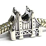 Authentic Nagara Sterling Silver 3-d San Fransico Golden Gate Bridge Bead for Pandora Troll European Charm Bracelets