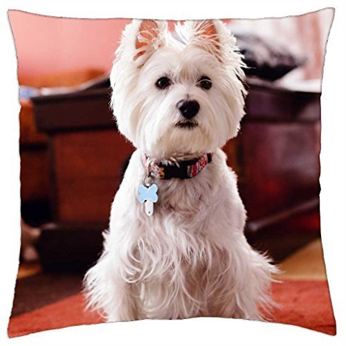 Westie - Rainy man Pillow Cover Case (18