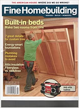 Fine Homebuilding Magazine Built In Beds January 2011