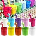 Flower Pots , Acelectronic®(10 PCS) 10 Colors Metal Iron Flower Pot Hanging Balcony Garden Plant Planter Home Decor