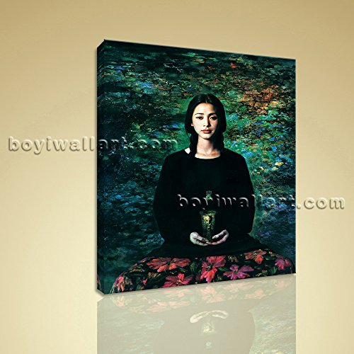 """HD Print Of Nudes Oil Painting Realism Girl Portrait On Canvas Female Wall Art 1 Panels Wall Art Inner Framed Ready To Hang by Bo Yi Gallery 16""""x20"""""""