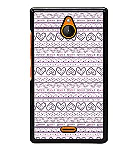 Hearts Pattern 2D Hard Polycarbonate Designer Back Case Cover for Nokia X2 Dual SIM :: Nokia X2 RM-1013 :: Nokia X2DS