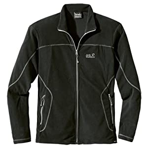 Jack Wolfskin Herren Fleecejacke Performance Jacket Men, Black, S, 1701501-6000002