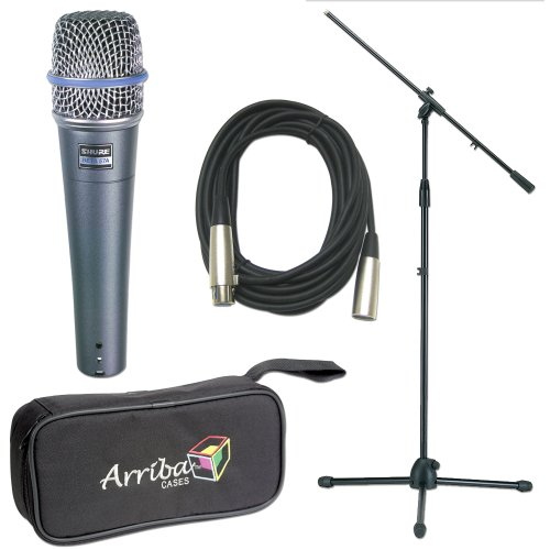 Shure 1 X Beta57A Mic Pack W/Stand Cable Tote