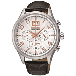 Seiko Chronograph Silver Dial Mens Watch - SPC087P1