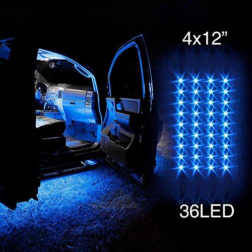 Blue 4Pcs 36 Led Waterproof Three Mode Neon Accent Light Kit For Car Interior Trunk Truck Bed Bush Fender