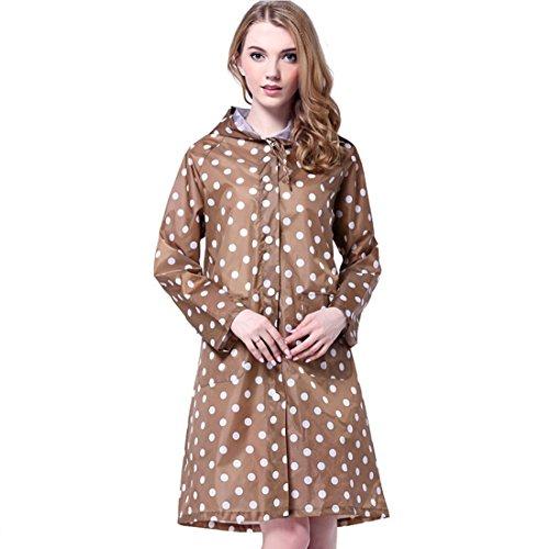 Trustworthy Buy Women Girls' Hooded Raincoat Wind Coat Rain Jackets Rain Wear (Khaki)