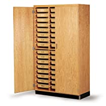 "Big Sale Diversified Woodcrafts 350-4822 Oak Wood Tote Tray Storage Cabinet, 48"" Width x 84"" Height x 22"" Depth"