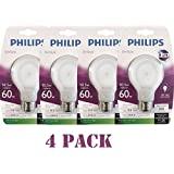 Philips 433227 10.5-watt Slim Style Dimmable A19 LED Light Bulb, Soft White (Pack of 4)