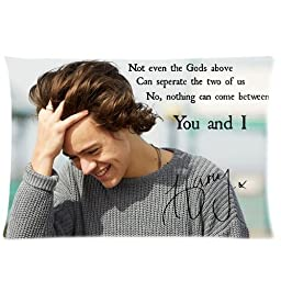 most hot popular music band stars one direction Harry Styles personalized cool Custom Cotton & Polyester Soft Pillow Case Cover 20X26 (One Side)