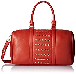 Caprese Women's Satchel Handbag (Brick Red)