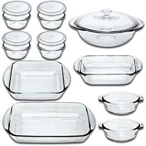 Anchor Hocking Fire King 15 Piece Glass Bakeware Set