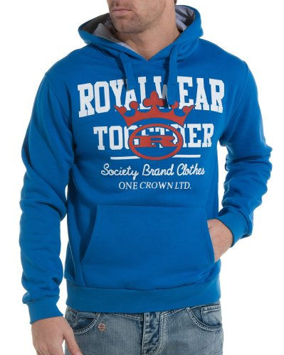 Royal Wear - Royal blue sweatshirt fashion trend and man - Color: Blue Size: S