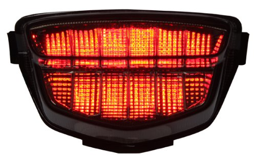 2008-2014 Honda Cbr-1000Rr Integrated Sequential Led Tail Lights Smoke Lens
