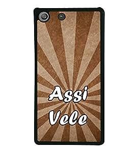 Assi Vele 2D Hard Polycarbonate Designer Back Case Cover for Sony Xperia M5 Dual :: Sony Xperia M5 E5633 E5643 E5663