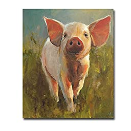 Morning Pig by Cari J. Humphry Premium Gallery-Wrapped Canvas Giclee (Ready to Hang)