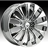Pacer Silhouette 17x7.5 Chrome Wheel / Rim 5x4.25 & 5x4.5 with a 42mm Offset and a 73.00 Hub Bore. Partnumber 776C-7751442