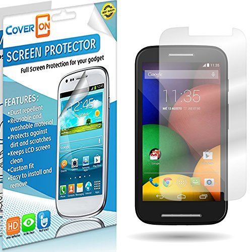 Coveron® Transparent Lcd Clear Screen Protector Shield For Motorola Moto E