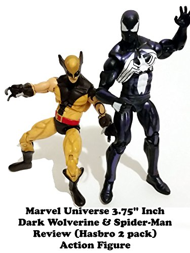 Marvel Universe 3.75 inch DARK WOLVERINE and SPIDER-MAN Review (hasbro two pack)