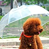 "Lesypet Pet Umbrella Dog Umbrellar With Leash, Fits 23"" Back Length"