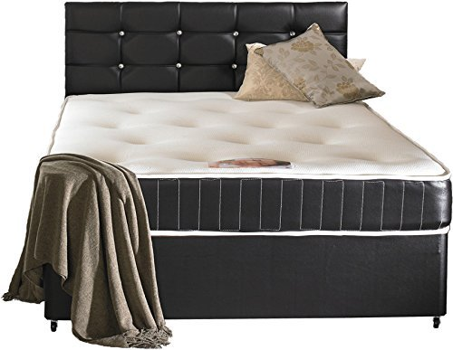 Faux Leather KingSize Divan Bed Including Luxurious Memory Foam Mattress And Dimonte Headboard (5x6'6 Kingsize) by Not Just Beds