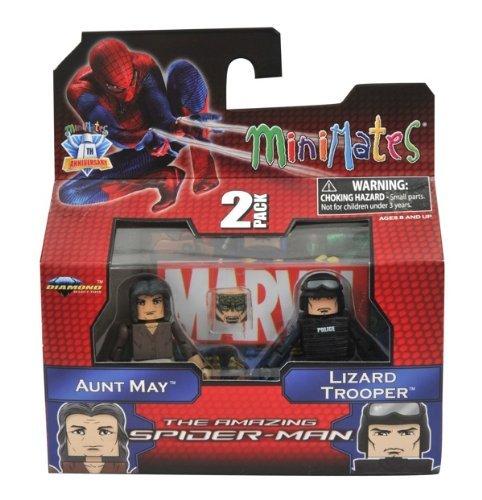 Minimates Marvel Comics Series 46: The Amazing Spider-Man Aunt May & Lizard Trooper 2 inch Mini Figure 2-Pack by Art Asylum by Art Asylum