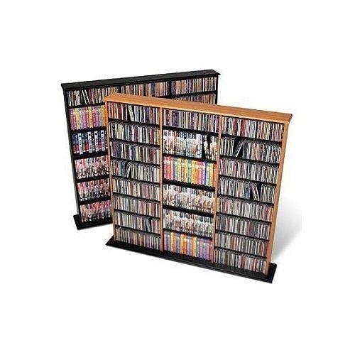 Buy low price oak triple width wall multimedia storage In wall dvd storage