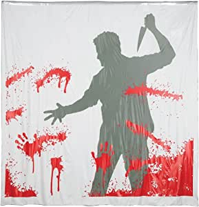 Man with Knife Shower Curtain with Sound