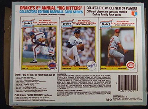 1986 Drake'S Super Pitchers Bakeries Box * Dwight Gooden * Valenzuela * Browning front-592473