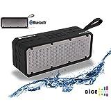 Dice Sound Xtreme Party Enceinte portable étanche Bluetooth/NFC avec 1 entrée pour carte Micro SD Noir