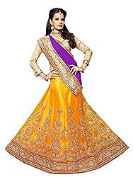 Manvaa Women Viscose Lehenga Choli(Yellow_ASMSTN1008_Free Size)