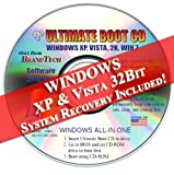 Image of Ultimate Boot Disc CD / BrandTech Repair & System Recovery Fix DOS Windows 7 XP Vista 98 95 - Includes Windows XP & Vista System 32Bit Recovery disk Live Boot CD / DVD (disc works with Home Basic, Home Premium, Business, and Ultimate) New 2012 Disk