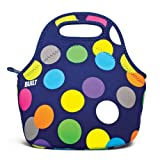 BUILT Neoprene Gourmet Getaway Lunch Tote, Scatter Dot