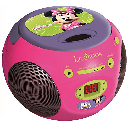 Lexibook RCD102MN - Reproductor de CD y radio con diseño de Minnie Mouse, color rosa (importado)