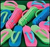 48 mini flip flop sandal erasers (pinata filler toys , luau party favors)