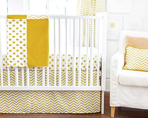 New Arrivals 2 Piece Crib Bed Set, Gold Rush